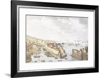 Entry of French into Livorno, June 1796, Engraving by Jean Duplessis-Bertaux--Framed Giclee Print