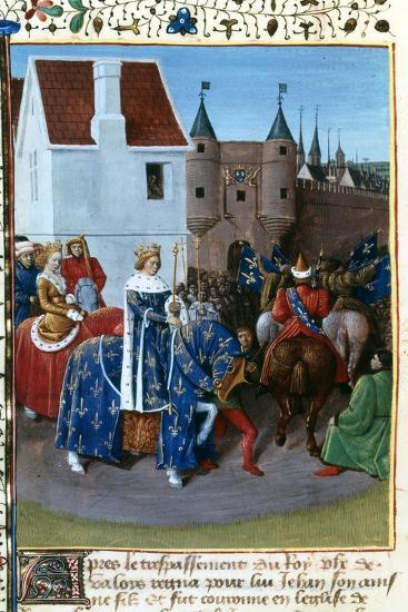 Entry of John II to Paris, 14th Century, (1455-146)-Jean Fouquet-Giclee Print
