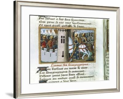 Entry of the Burgundians into Paris, 14 May 1418, (C148)--Framed Giclee Print
