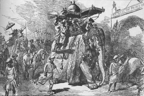 Entry of the Prince of Wales into Baroda, India, on 9 November 1875 (1908)-Unknown-Giclee Print