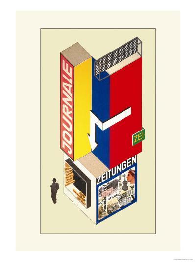 Entwurf Eines Kiosk-Herbert Boyer-Art Print