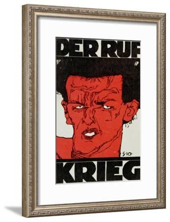 Envelope (Using a Self-Portrait by Egon Schiele of 1910) of the Magazine 'Der Ruf'-Egon Schiele-Framed Giclee Print