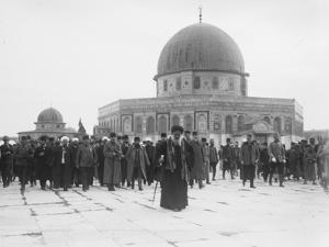 Enver Pasha and Jamal  Pasha visiting the Dome of the Rock, Jerusalem, 1916