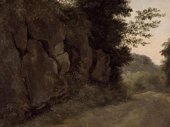Environs de Nemi : rochers-Pierre Henri de Valenciennes-Giclee Print
