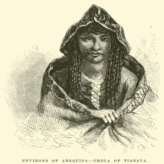 Environs of Arequipa, Chola of Tiabaya-?douard Riou-Giclee Print