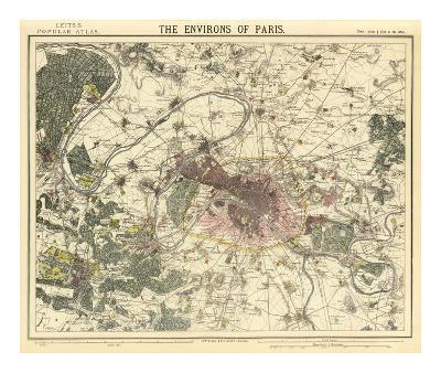 Environs Paris, c.1883--Art Print