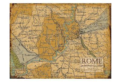 Environs Rome Sepia-Carole Stevens-Art Print