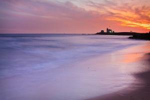 Watch Hill Lighthouse at Sunset by Enzo Figueres