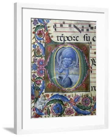 Eolo, Miniature Initial, by Liberale Da Verona (Ca 1445-1530), Italy, 15th Century--Framed Giclee Print