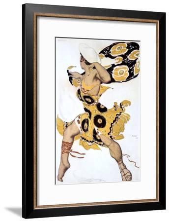 Ephebe, Costume Design for a Ballets Russes Production of Tcherepnin's Narcisse, 1911-Leon Bakst-Framed Giclee Print