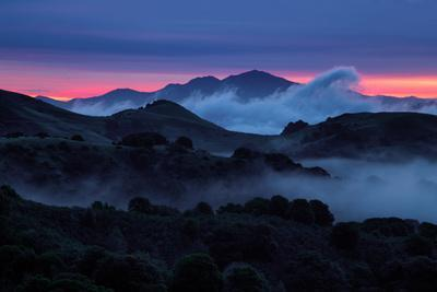 Epic Morning Fog at Sunrise East Bay Hills Mount Diablo Oakland-Vincent James-Photographic Print