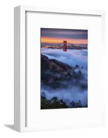 Epic Morning Fog Golden Gate Bridge, San Francisco California Travel-Vincent James-Framed Photographic Print