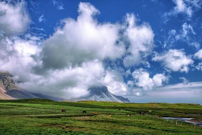 Epic Viking and Clouds Landscape, Stokknes Vestrahorn Iceland-Vincent James-Photographic Print