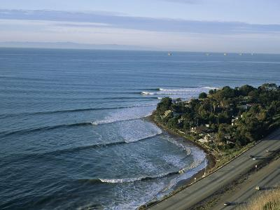 Epic Winter Surf Hitting Rincon Point-Rich Reid-Photographic Print