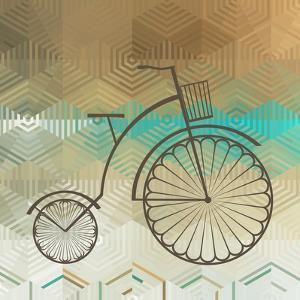 Retro Bicycle On A Color Background by epic44
