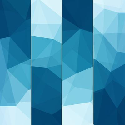 Set of Abstract Blue Background