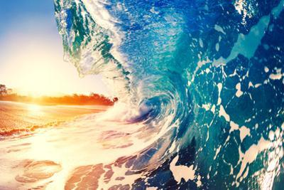 Ocean Wave at Sunrise by EpicStockMedia
