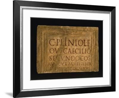 Epigraph of Pliny the Younger--Framed Giclee Print