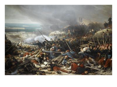 Episode du siège de Sébastopol pendant la guerre de Crimée en 1855, gorge de Malakoff-Adolphe Yvon-Giclee Print