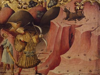 Episode of the Bull, Scene from Left Panel of Altarpiece of St Michael--Giclee Print