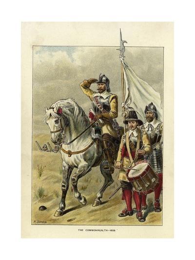 Epochs of the British Army - the Commonwealth-Richard Simkin-Giclee Print