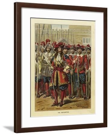 Epochs of the British Army - the Restoration-Richard Simkin-Framed Giclee Print