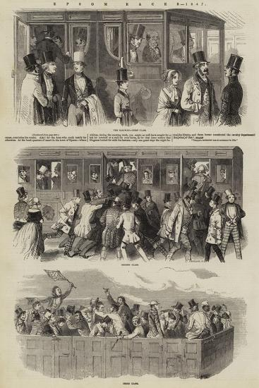 Epsom Races, 1847--Giclee Print