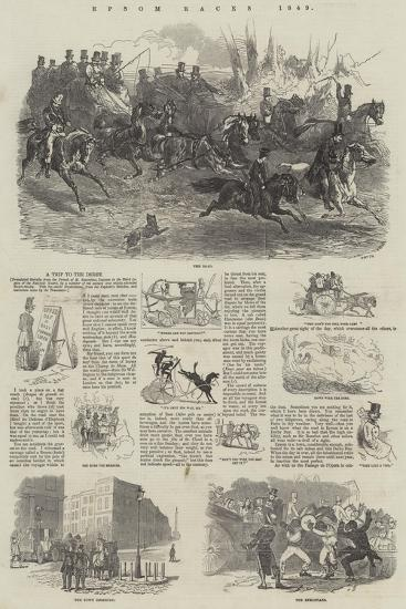 Epsom Races, 1849-Harrison William Weir-Giclee Print