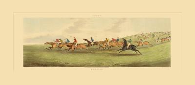 Epsom: Running-Henry Alken-Art Print