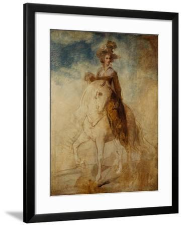 Equestrian Portrait of a Lady, Said to Be Lady Elizabeth Foster-Richard Cosway-Framed Giclee Print
