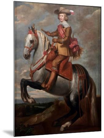 Equestrian Portrait of Cardinal-Infante Ferdinand of Austria-Caspar De Crayer-Mounted Giclee Print