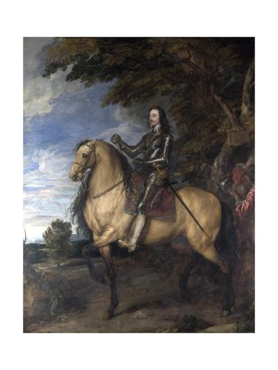 Equestrian Portrait of Charles I-Sir Anthony Van Dyck-Giclee Print