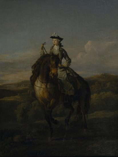 Equestrian Portrait of Charlotte Boyle, Marchioness of Hartington, 1747-William Kent-Giclee Print