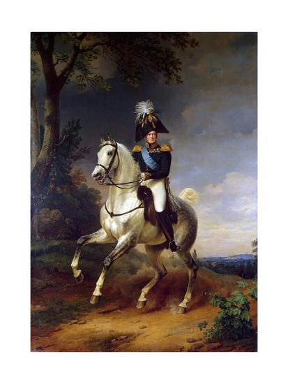 Equestrian Portrait of Emperor Alexander I, (1777-182), 1837-Franz Kruguer-Giclee Print