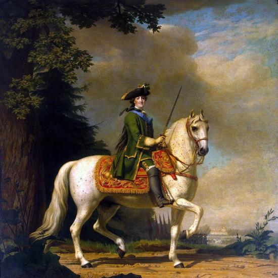 Equestrian Portrait of Empress Catherine II, (1729-179), after 1762-Vigilius Erichsen-Giclee Print