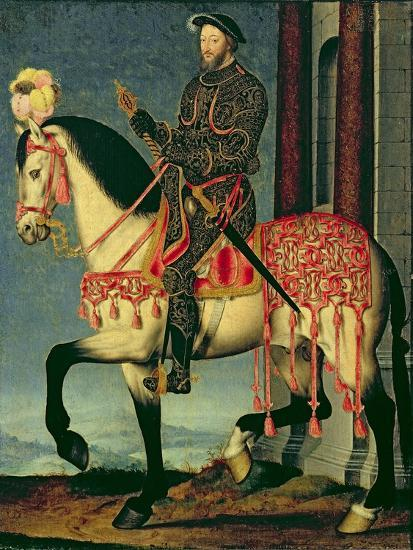 Equestrian Portrait of Francis I of France-Francois Clouet-Giclee Print