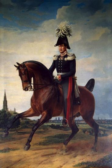 Equestrian Portrait of Frederick William III of Prussia, (1797-184), 1831-Franz Kruguer-Giclee Print