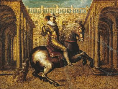 Equestrian Portrait of Gaston D'Orleans (1608 - 1660)--Giclee Print