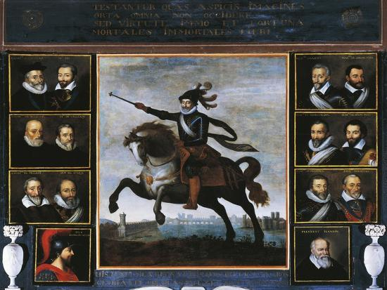 Equestrian Portrait of Henry IV of Bourbon--Giclee Print