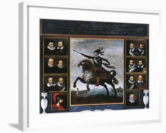 Equestrian Portrait of Henry IV of Bourbon--Framed Giclee Print