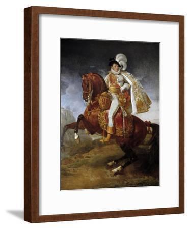 Equestrian Portrait of Jerome Bonaparte by Antoine-Jean Gros--Framed Giclee Print