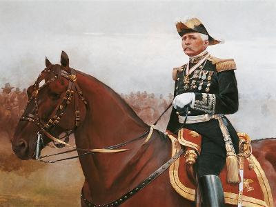 Equestrian Portrait of Jose Porfirio Diaz--Giclee Print