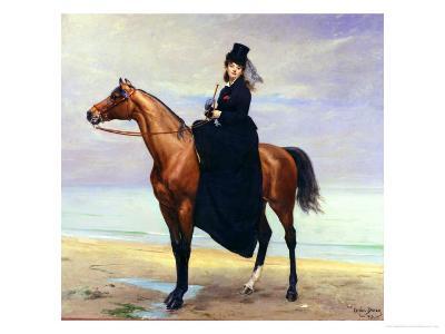 Equestrian Portrait of Mademoiselle Croizette, 1873-Charles ?mile Carolus-Duran-Giclee Print