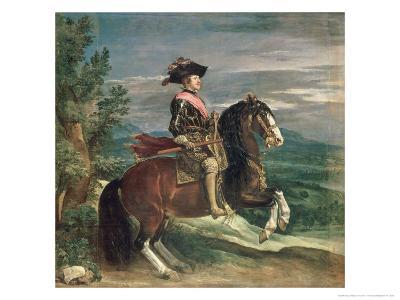 Equestrian Portrait of Philip IV-Diego Velazquez-Giclee Print