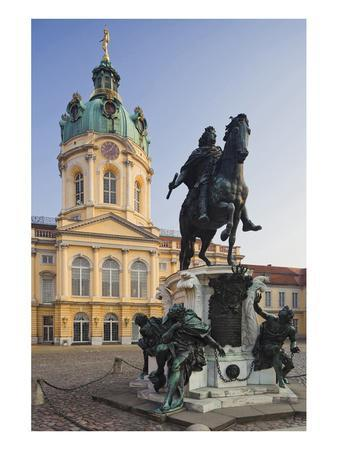 Equestrian sculpture of Friedrich Wilhelm I in the Court of Honour of Charlottenburg Palace--Art Print