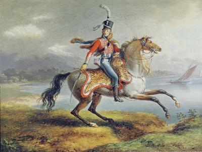 Equestrian Self Portrait, 1806-08-Louis Lejeune-Giclee Print