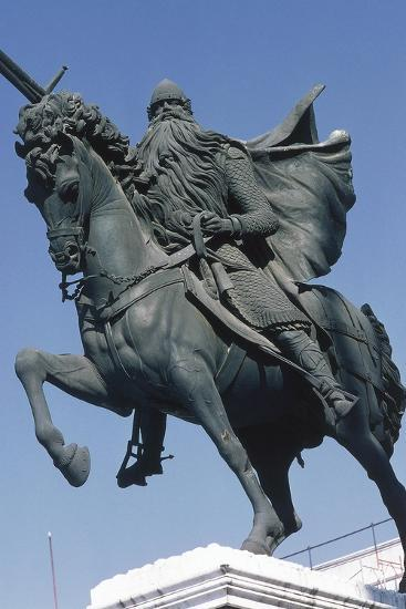 Equestrian Statue of El Cid--Giclee Print