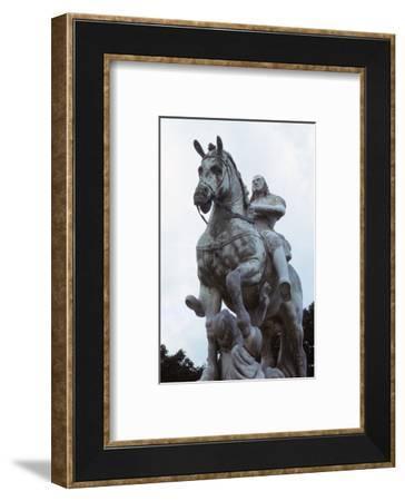 Equestrian Statue of John Sobieski trampling a Turk, Newby Hall, North Yorkshire, 20th century-CM Dixon-Framed Photographic Print