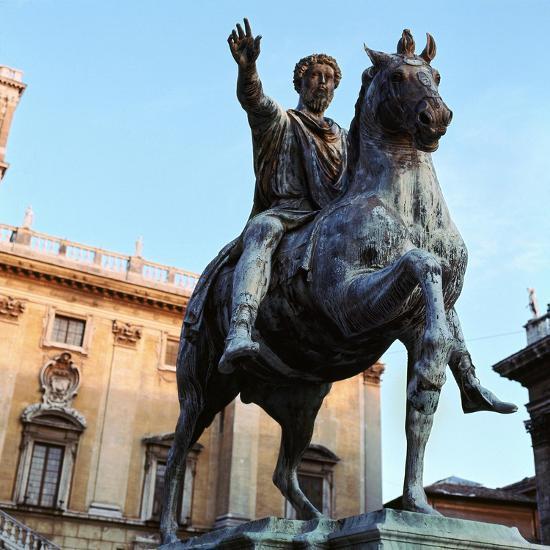Equestrian statue of Marcus Aurelius, 2nd century. Artist: Unknown-Unknown-Giclee Print