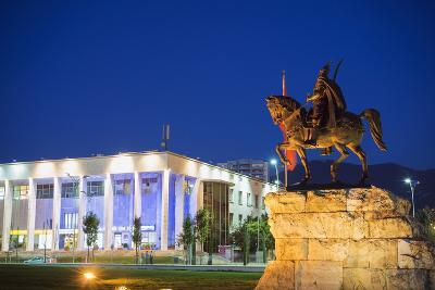 Equestrian Statue of Skanderbeg, Tirana, Albania, Europe-Christian Kober-Photographic Print